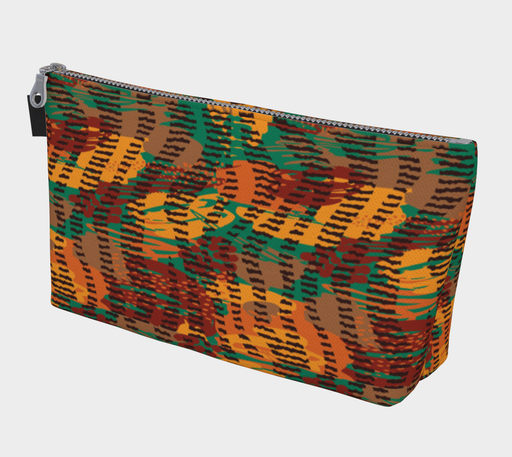 Abstract Animal Stripes Makeup Bag