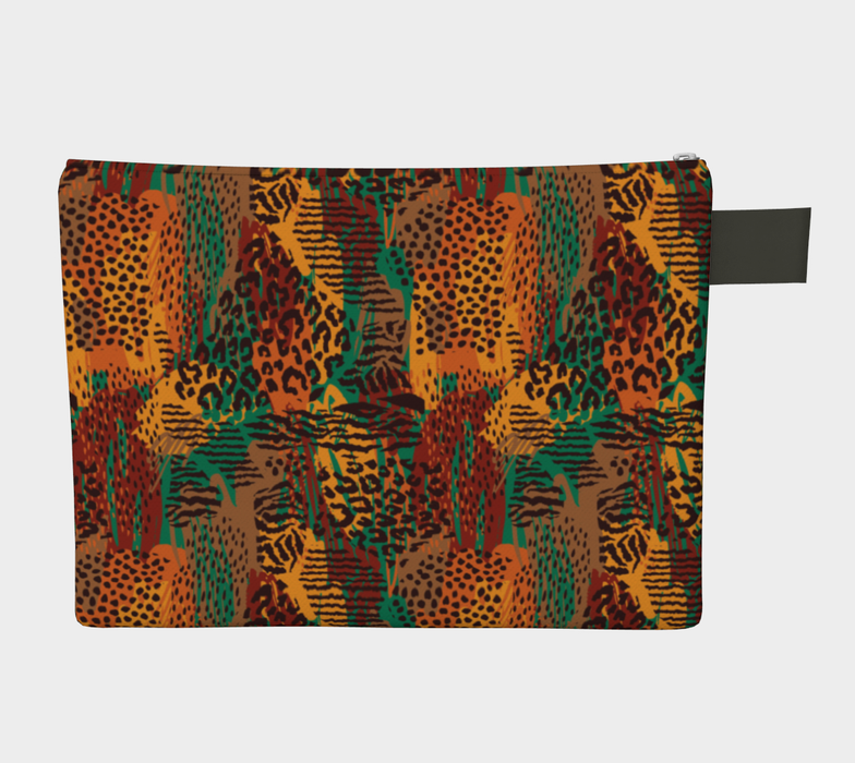 Safari Animal Print Mashup Zipper Carry-All