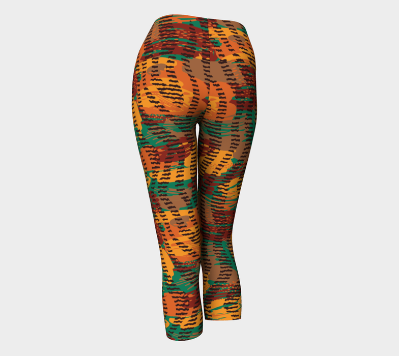 Abstract Animal Stripes Yoga Capris