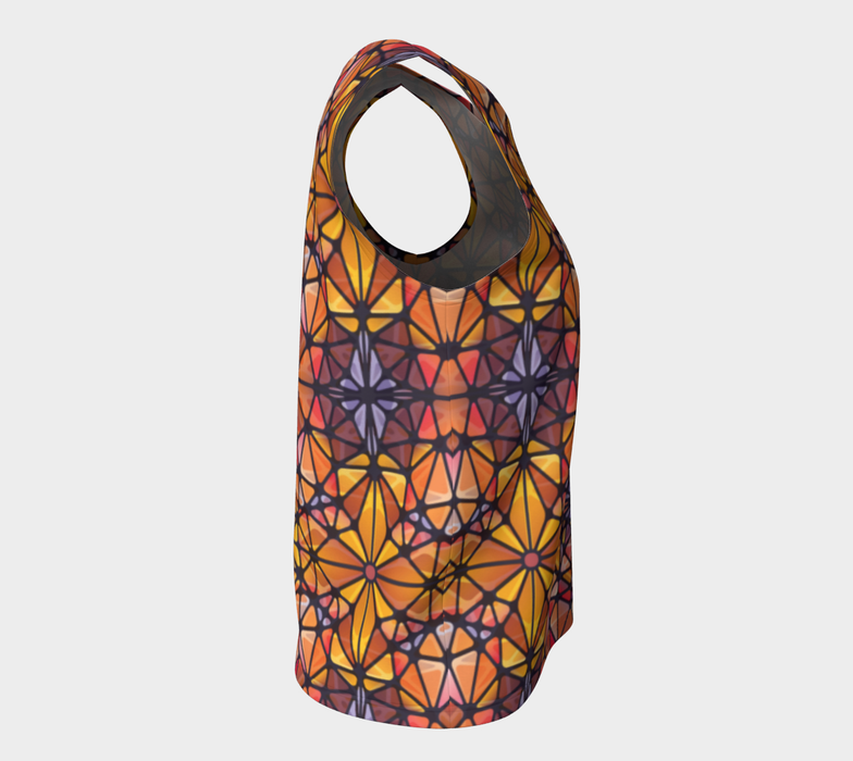 Amber Kaleidoscope Loose Tank Top