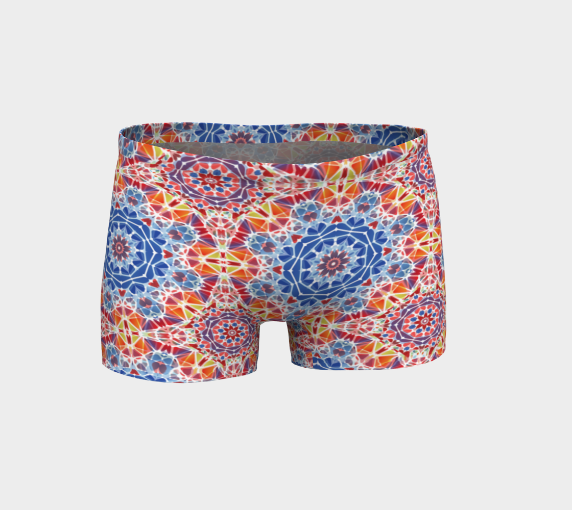 Blue and Orange Kaleidoscope Shorts