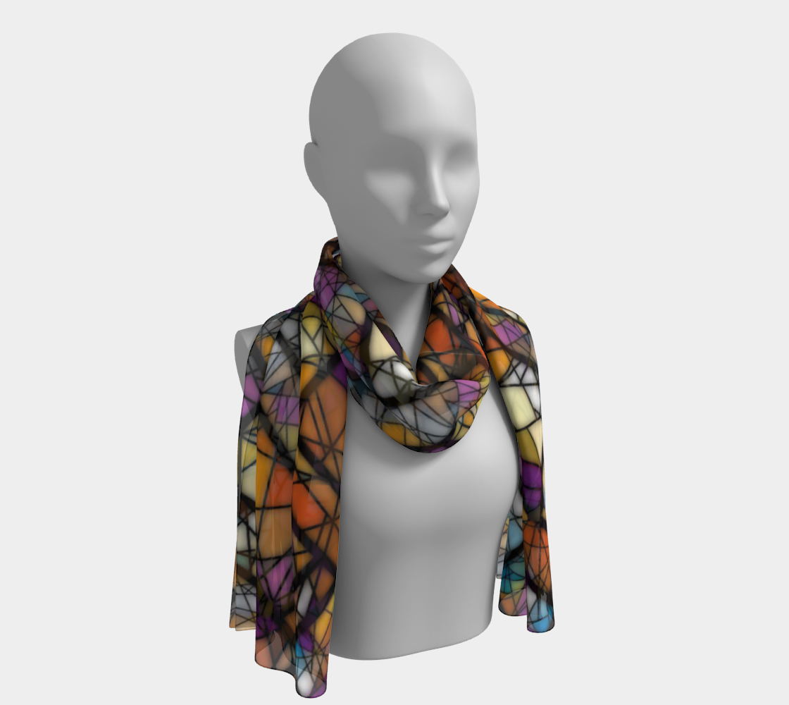 Quadrangles & Triangles Mosaic Pattern Long Scarf