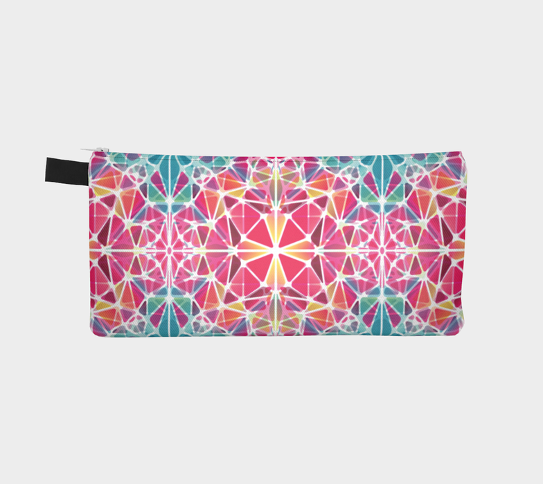 Pink and Blue Kaleidoscope Pencil Case