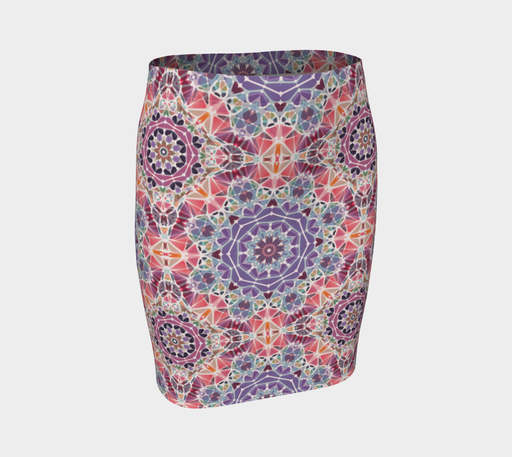 Purple and Pink Kaleidoscope Fitted Skirt