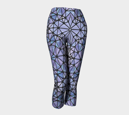 Purple and Blue Kaleidoscope Capris