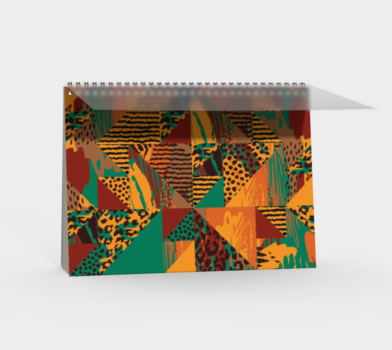 Abstract Safari Print Spiral Notebook