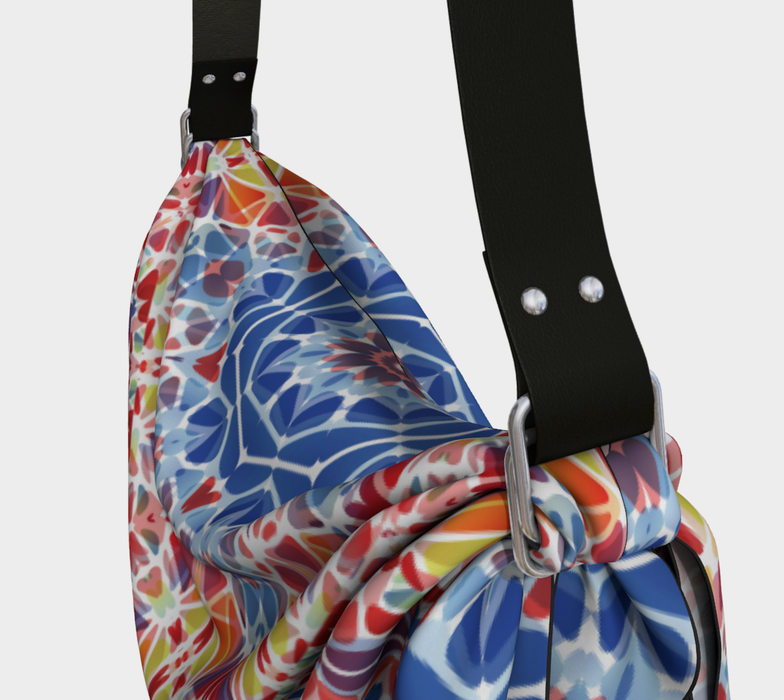 Blue and Orange Kaleidoscope Origami Tote