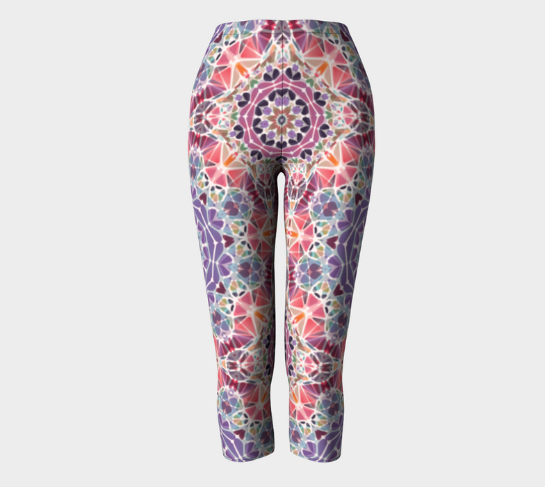 Purple and Pink Kaleidoscope Capris
