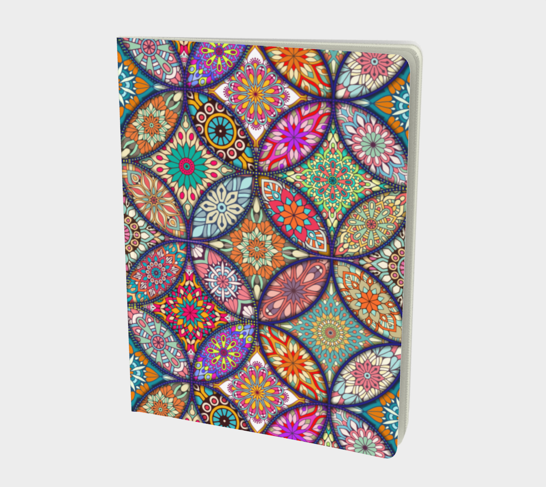 Vibrant Mandalas Large Notebook