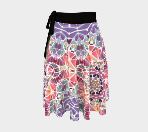 Purple and Pink Kaleidoscope Wrap Skirt