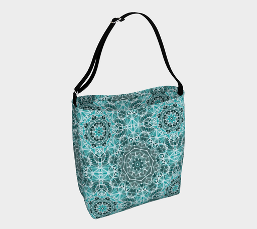Turquoise & Gray Kaleidoscope Day Tote