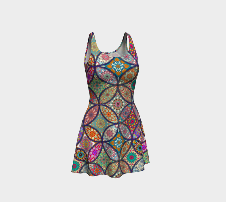 Vibrant Mandalas Flare Dress