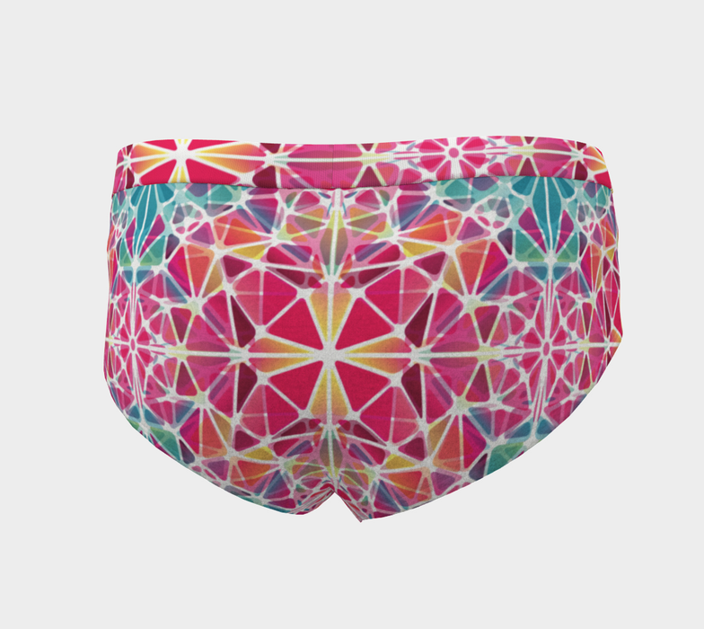 Pink and Blue Kaleidoscope Cheeky Briefs