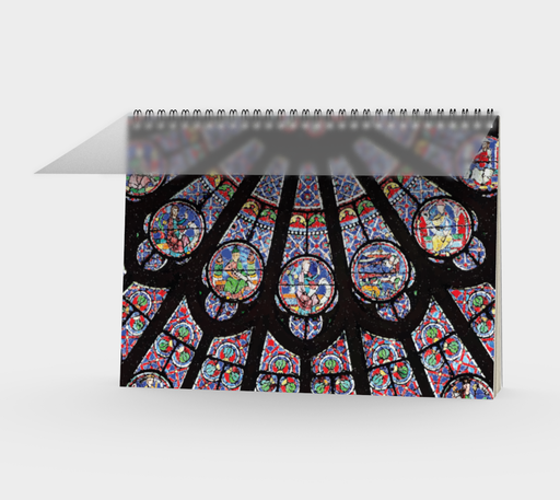 Rose South Window, Notre Dame Paris Spiral Notebook