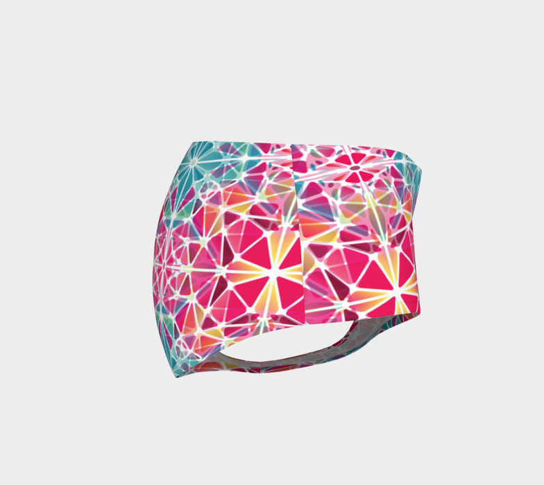 Pink and Blue Kaleidoscope Mini Shorts