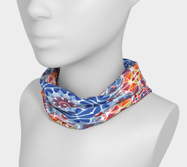Blue and Orange Kaleidoscope Headband