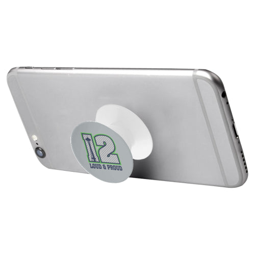 Seattle Seahawks Fan - 12 Loud & Proud - White Multi-function Cell Phone Stand (Set of 2)