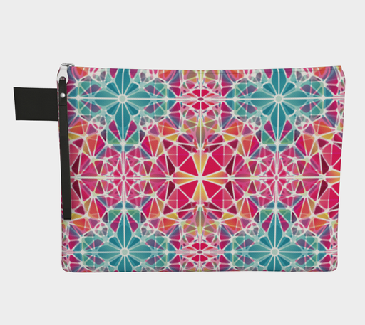Pink and Blue Kaleidoscope Zipper Carry-All