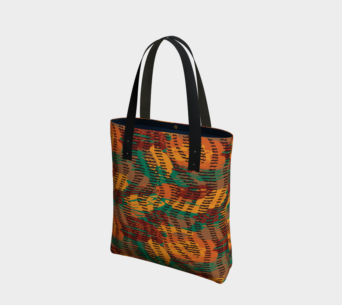 Abstract Animal Stripes Tote Bag