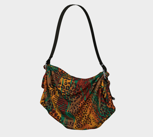 Safari Animal Print Mashup Origami Tote
