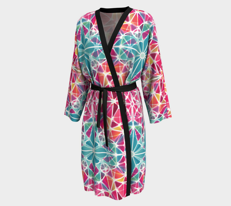 Pink and Blue Kaleidoscope Peignoir