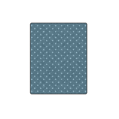 "Blue Polka Dots Fleece Blanket 40""x 50"""