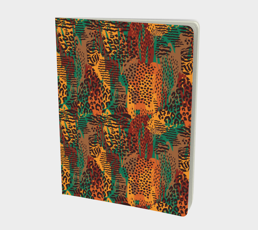 Safari Animal Print Mashup Large Notebook