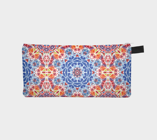 Blue and Orange Kaleidoscope Pencil Case