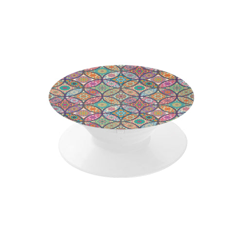 Vibrant Mandalas - White Multi-function Cell Phone Stand (Set of 2)