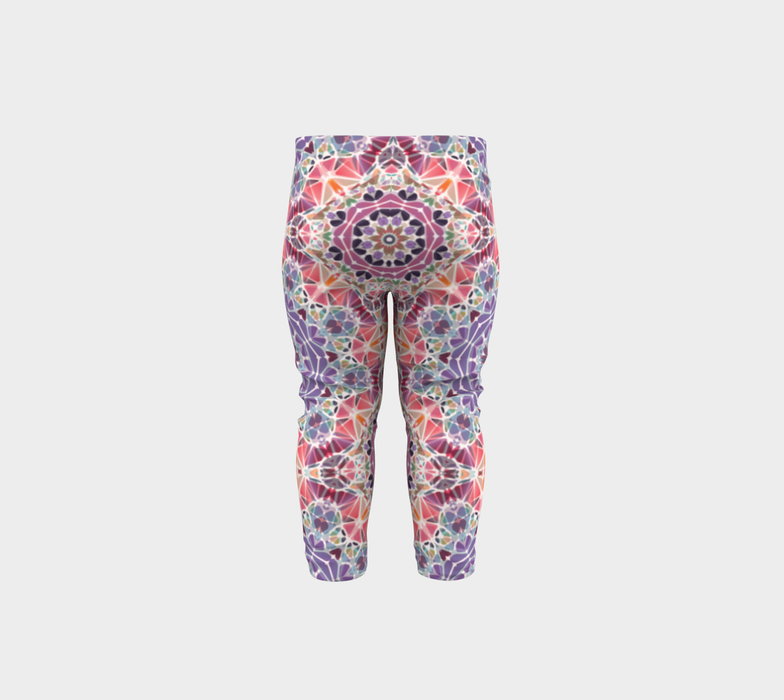 Purple and Pink Kaleidoscope Baby Leggings