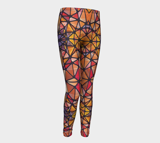 Amber Kaleidoscope Youth Leggings