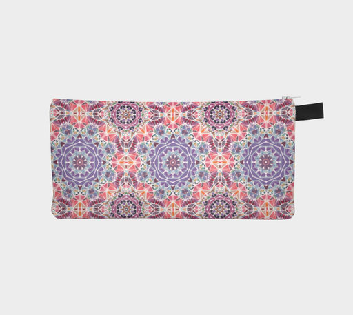 Purple and Pink Kaleidoscope Pencil Case