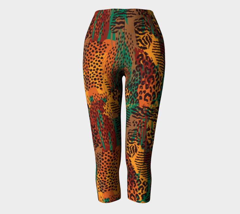 Safari Animal Print Mashup Capris