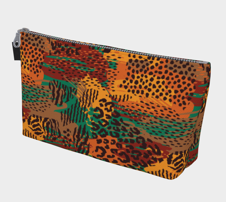 Safari Animal Print Mashup Makeup Bag