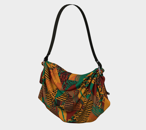 Abstract Safari Print Origami Tote