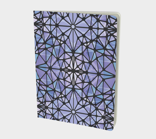 Purple and Blue Kaleidoscope Notebook - Large