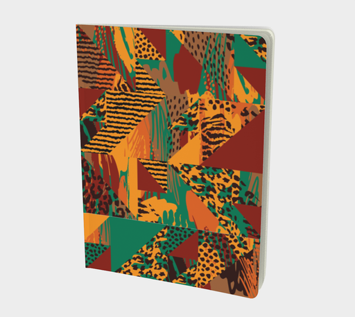 Abstract Safari Print Large Notebook