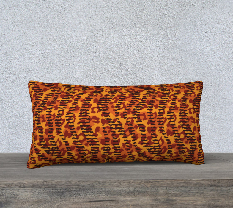 "Animal Stripes and Spots 24"" x 12"" Decorative Pillow Case"