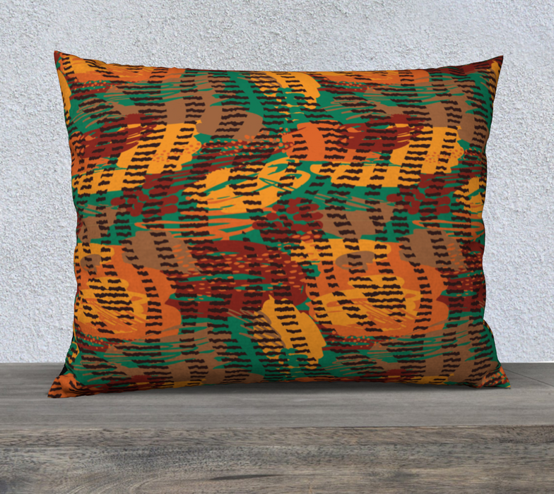 "Abstract Animal Stripes 26"" x 20"" Decorative Pillow Case"