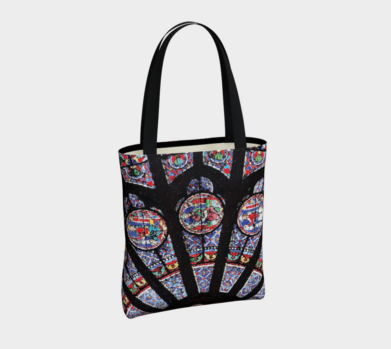 Rose South Window, Notre Dame Paris Tote Bag