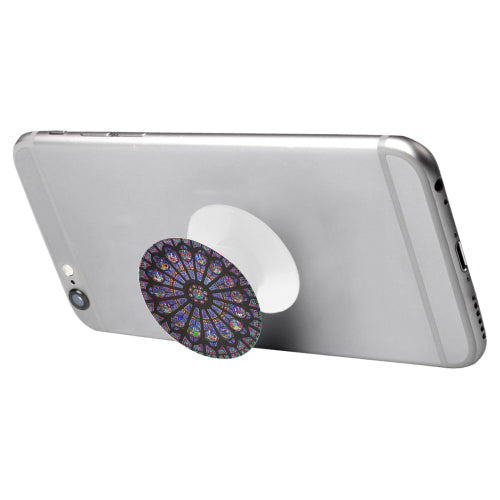 Rose South Window - Notre Dame  - White Multi-function Cell Phone Stand (Set of 2)