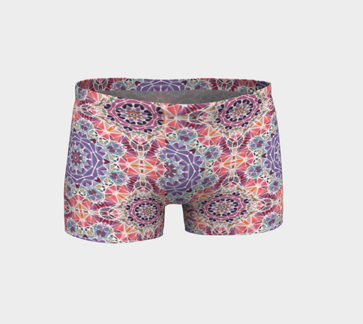 Purple and Pink Kaleidoscope Shorts