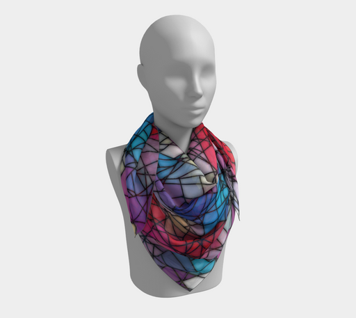 Angular Mosaic Pattern Square Scarf