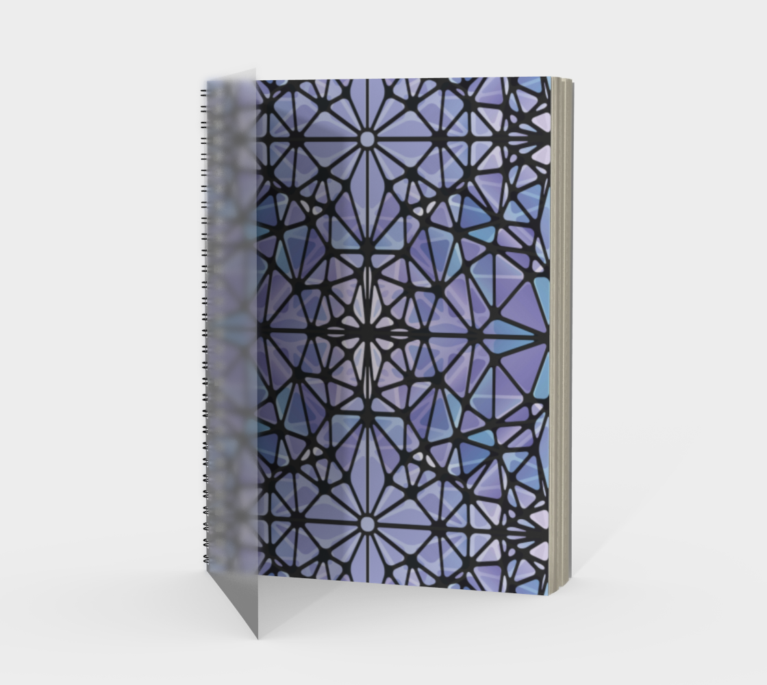 Purple and Blue Kaleidoscope Spiral Notebook - Portrait