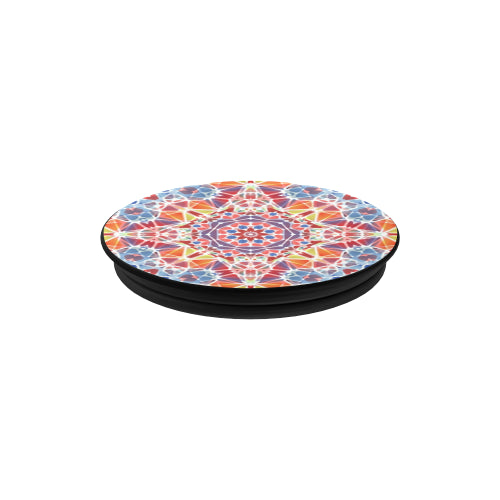 Blue & Orange Kaleidescope - Black Multi-function Cell Phone Stand