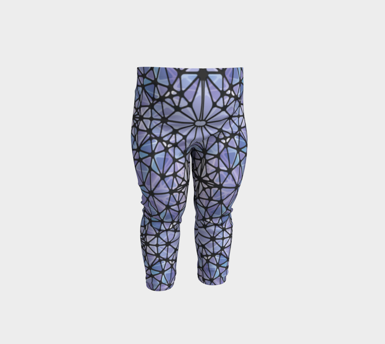 Purple and Blue Kaleidoscope Baby Leggings