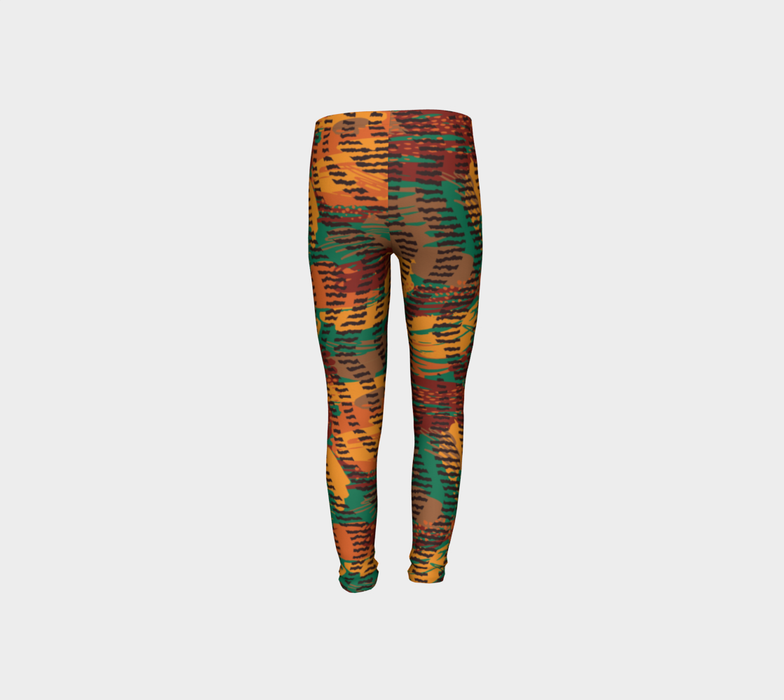 Abstract Animal Stripes Youth Leggings