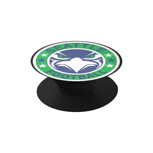 Seattle Seahawks Fan - Fan Badge - Black Multi-function Cell Phone Stand