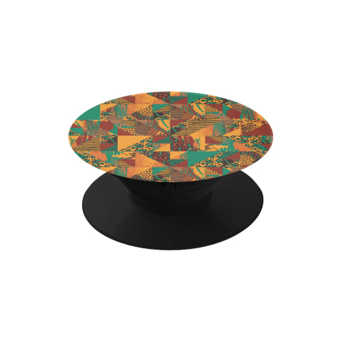 Abstract Safari Print - Black Multi-function Cell Phone Stand (Set of 2)