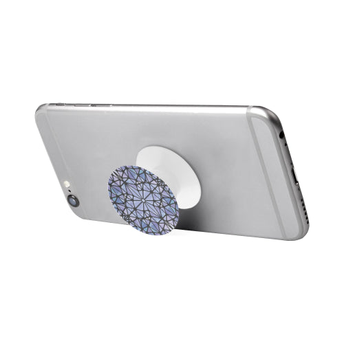 Purple & Blue Kaleidescope - White Multi-function Cell Phone Stand